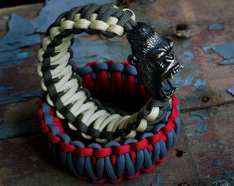 gorilla paracord bracelet monkey charm bracelet with a unique