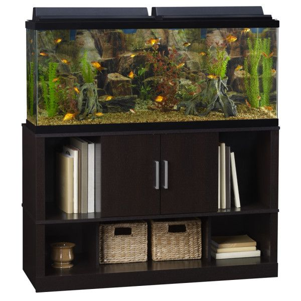 Top fin open close storage aquarium stand aquarium for Fish tank table stand