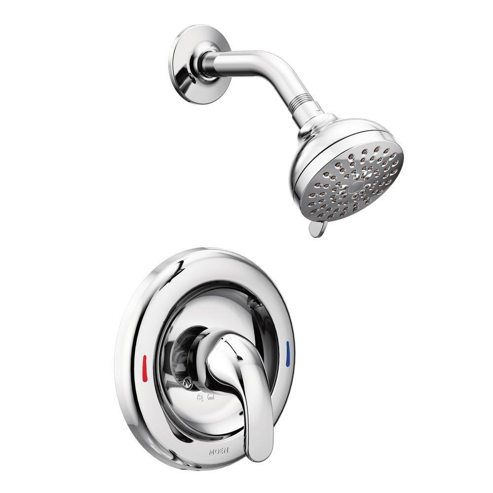 Moen Adler 1 Handle 1 Spray Shower Faucet With Valve In Chrome