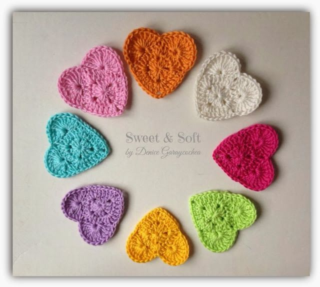 La Magia del Crochet: DULCES CORAZONES
