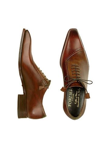 1591fd41ba762 Brown Italian Handcrafted Leather Cap Toe Dress Shoes  578.00 Actual ...