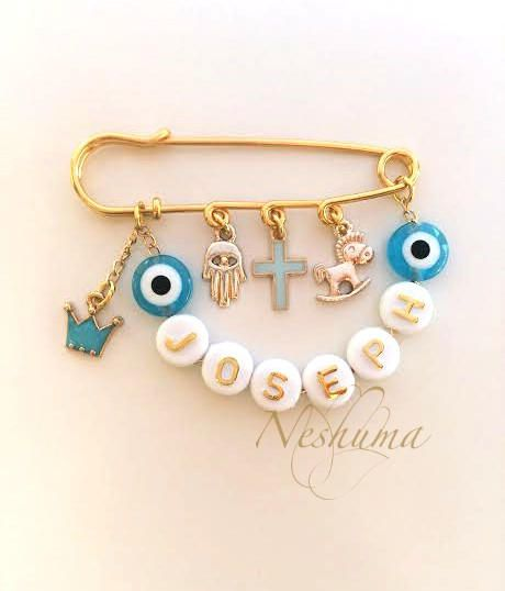 Custom name baby jewelry personalized baby gifts name pin baby custom name baby jewelry personalized baby gifts name pin baby pins evil eye negle Choice Image