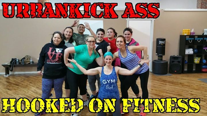 This group #UrbanKicked some serious ass tonight at #HookedOnFitness! Join us every Monday night at 7pm at the #HookedOnFitness Studio for #UrbanKick. For more information and the full class schedule please visit http://ift.tt/1Ld5awW or http://ift.tt/1UIHuXU  #GroupFitness #PhillyPersonalTrainer #FitFam Another shot from #HookedOnFitness