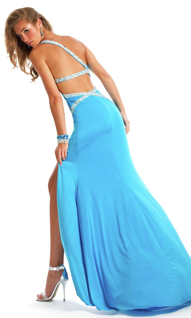 Sweetheart Slit Prom Dresses Back Out