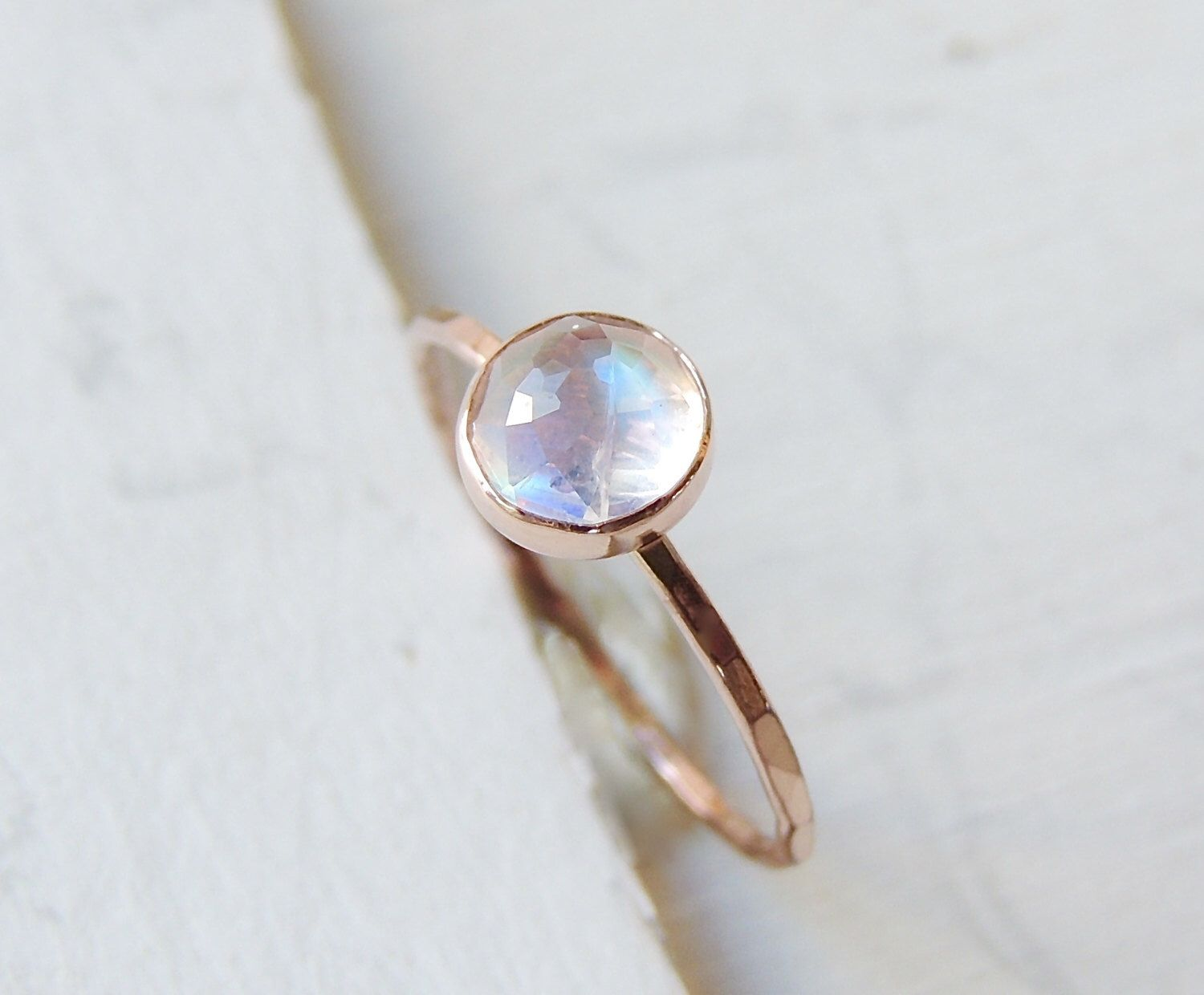 Moonstone ring moonstone engagement ring rainbow moonstone ring