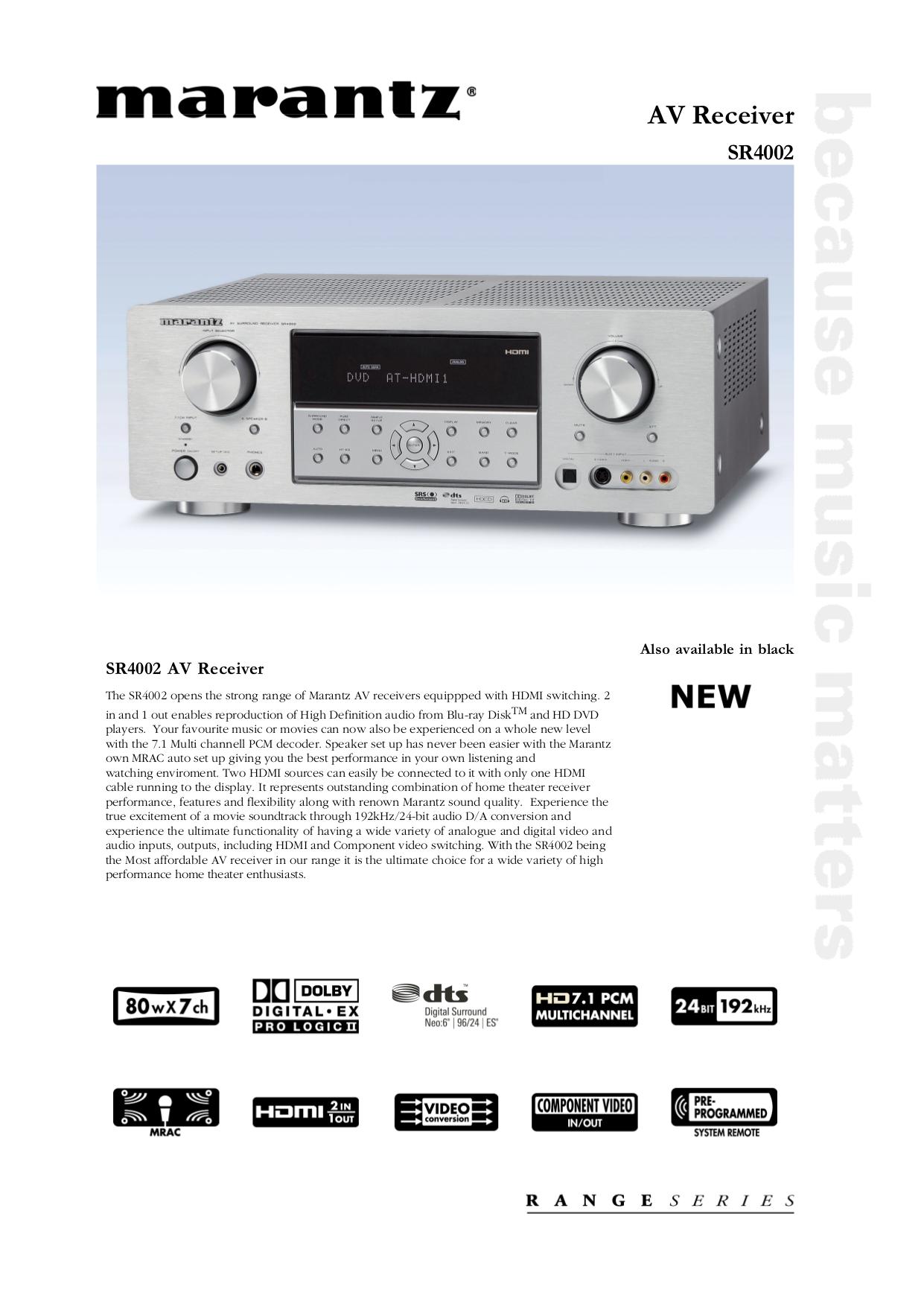 download free pdf for marantz sr4002 receiver manual rf sound rh pinterest com Marantz 120 Tuner Marantz 250 3300