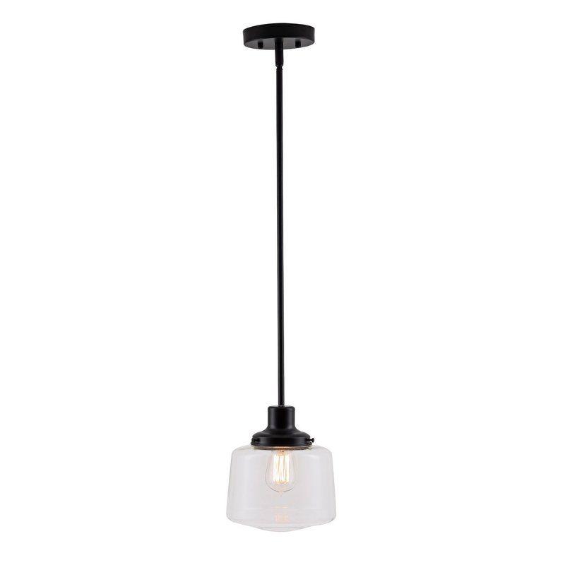 Itko 1 Light Led Schoolhouse Pendant Vintage Pendant Lighting Black Pendant Light Kitchen Dining Room Lighting