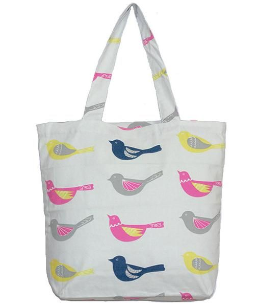 add187f154df Bird Printed Tote Bag- Buy Online Canvas Tote Bags in India.   BirdPrintedToteBag