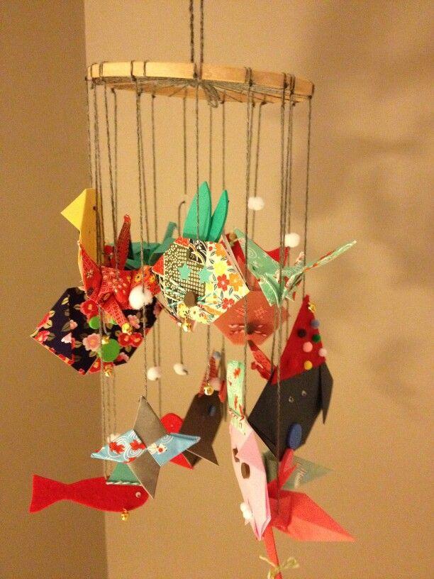 Mobile chambre enfant en origami