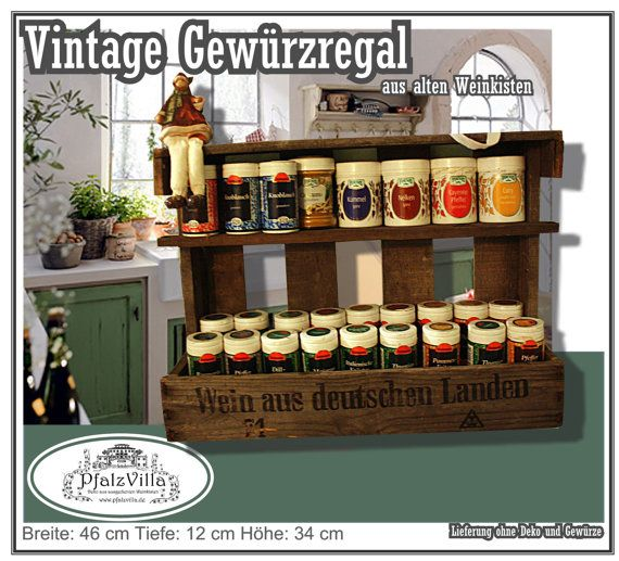 Spice shelf . built from an old german, disused wine box on Etsy, £28.71