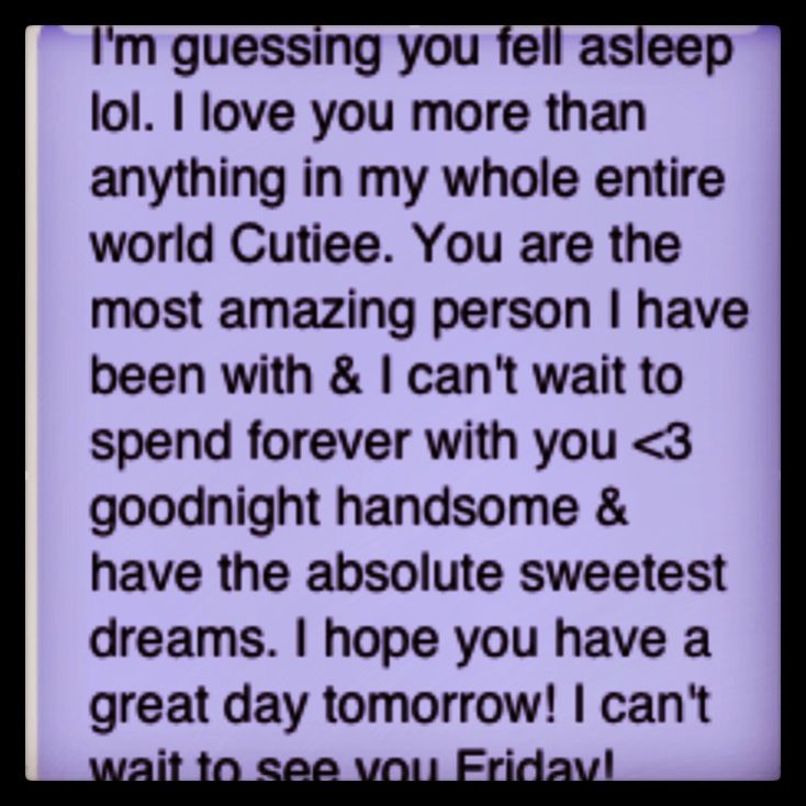 You texts a goodnight guy when 10 Text