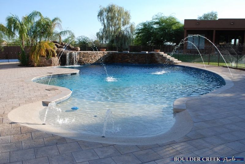 Phoenix Pool Remodel Concept Glamorous Pools  Tropical Pools  Boulder Creek Pools And Spas  Pool . Design Inspiration
