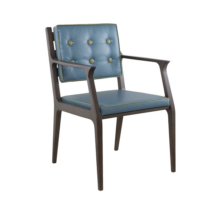 Morelia Armchair With Solid Beech Frame With Wooden Detail On The Back Available In A Wide Range Of Finishes Upholstered In Fabri Restaurant Chairs Armchair