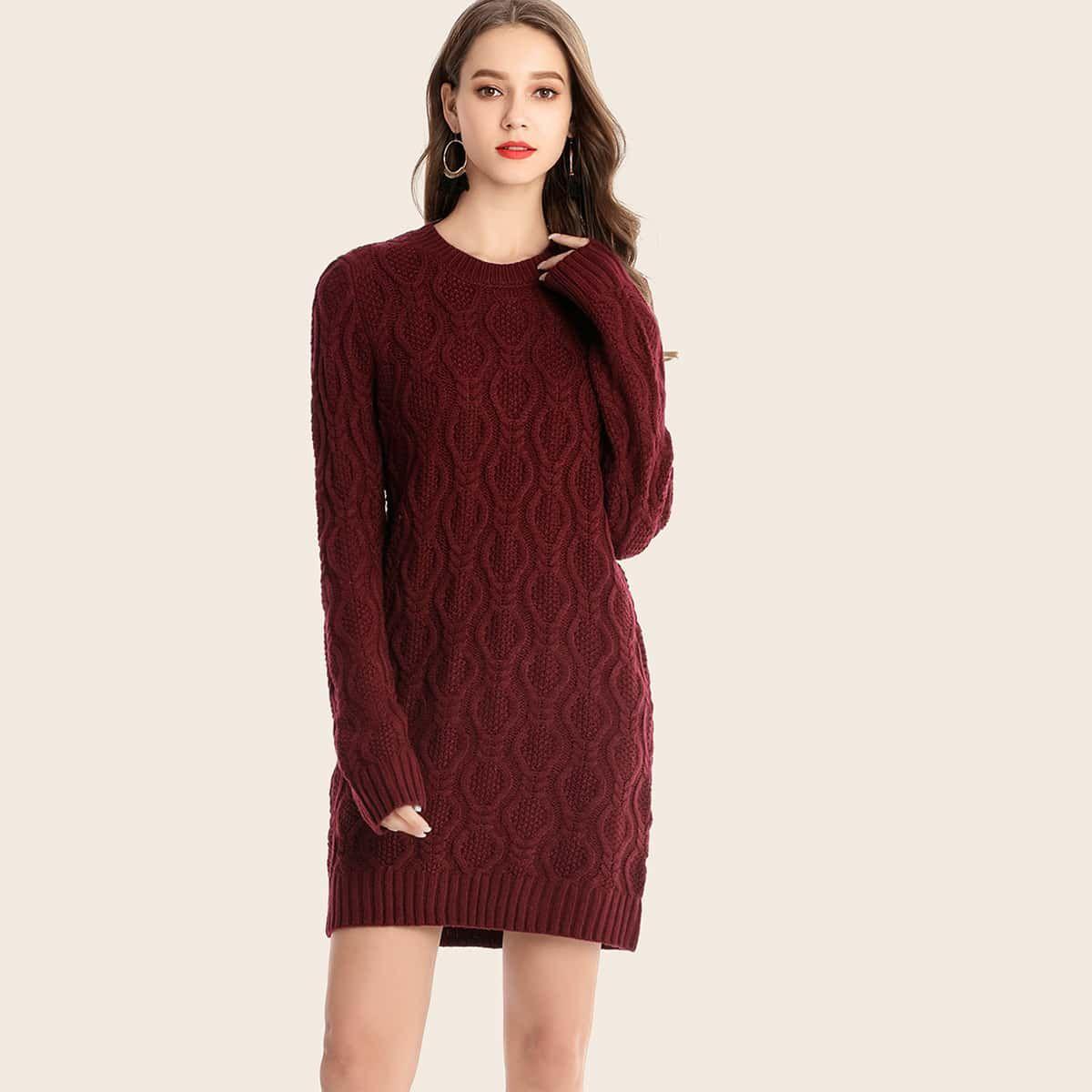 Cable Knit Fitted Sweater Dress Sweater Dress Crochet Dress Girl Summer Dress Patterns [ 1200 x 1200 Pixel ]