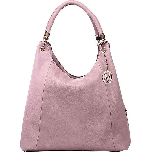 4a03f97b9249 MKF Collection by Mia K. Farrow April Hobo Shoulder Bag - Dusty Pink ...