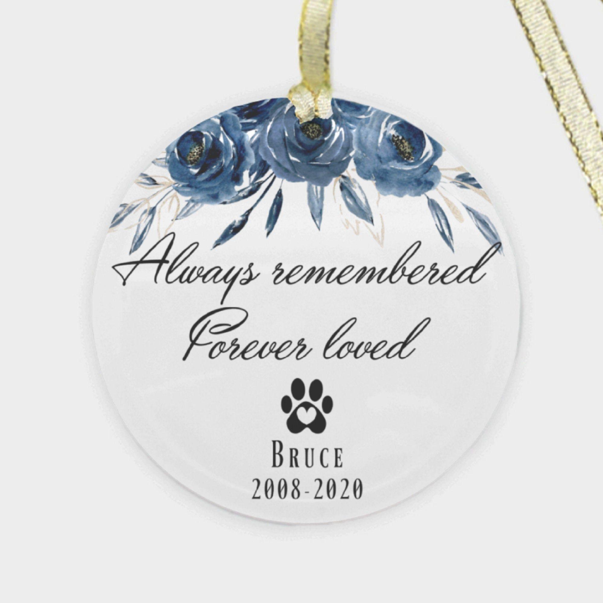 Pet Memorial Ornament Dog Memorial Ornament Personalized Cat