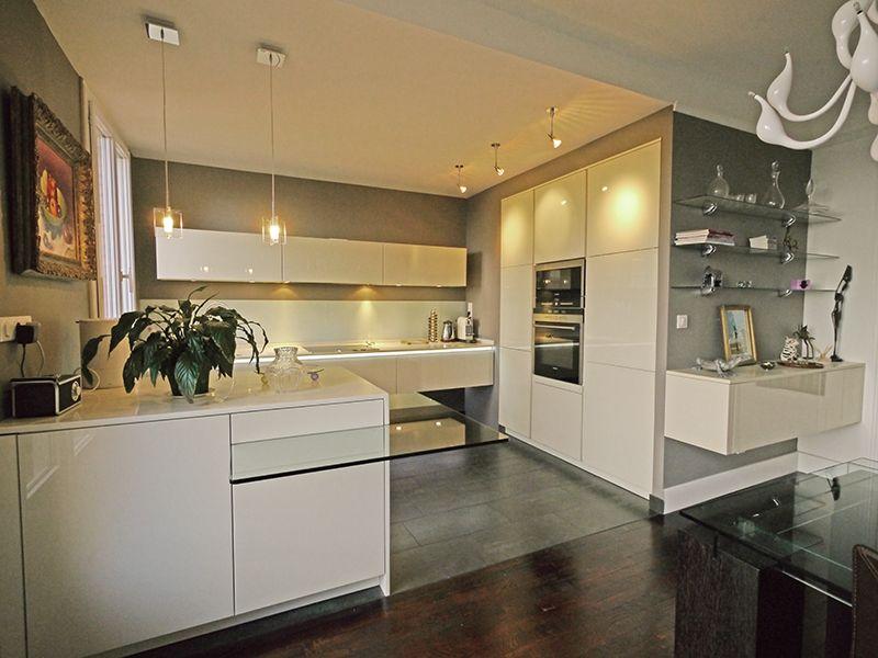 une cuisine ouverte chic et raffine photos cuisine and inspiration - Cuisine Beige Laquee