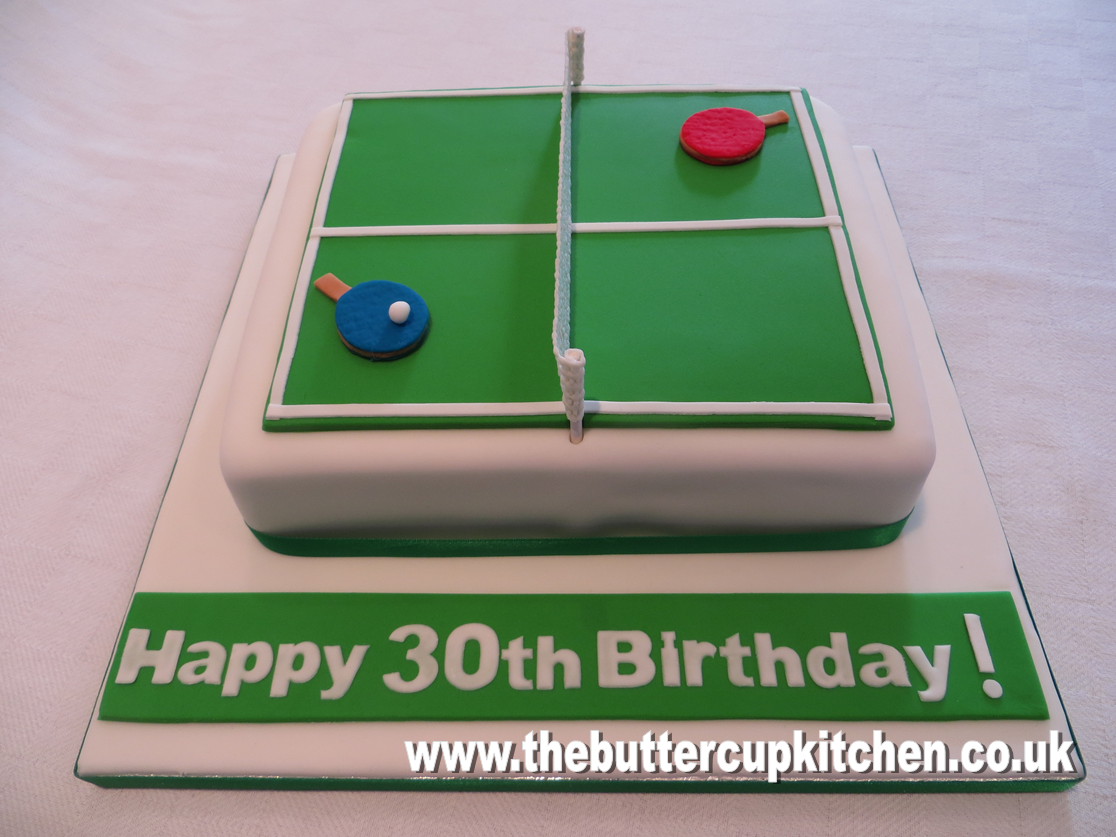 Table Tennis Themed Birthday Cake By Www Thebuttercupkitchen Co Uk Tennis Cake Themed Birthday Cakes Cars Theme Birthday Party