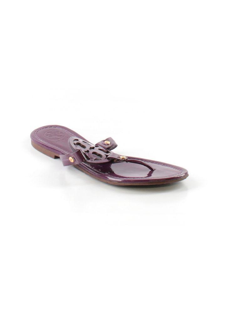 139d5f3804aae Women Tory Burch Reva Miller Purple Patent Thong Flip Flop Sandal Shoe Size  8 M  ToryBurch  FlipFlops