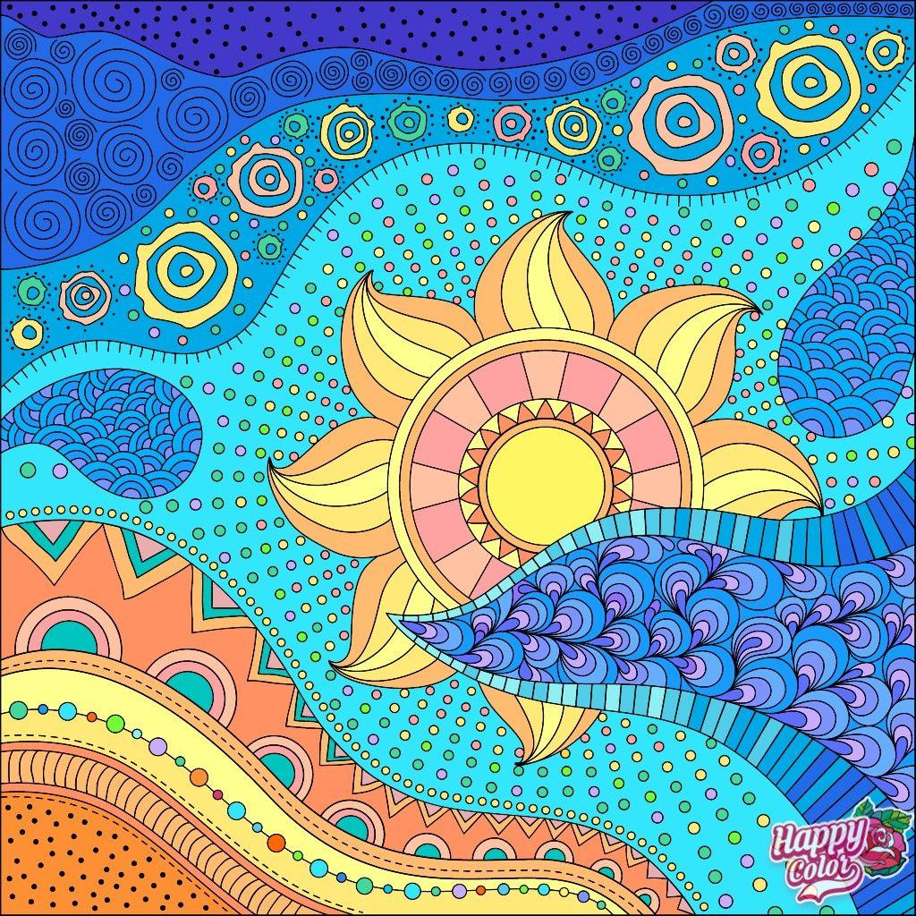 Azrec Noon Coloring Book App Colorful Art Hanging Canvas