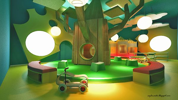 Sensory Is Brought Throughout This Project Of A Kindergarten