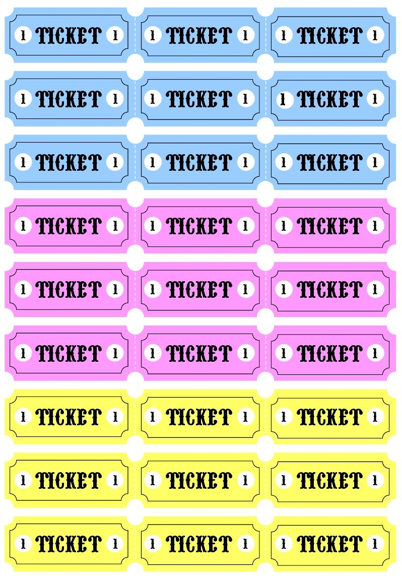 picture relating to Tickets Printable named Engage in Tickets printable  My girlies! Carnival tickets