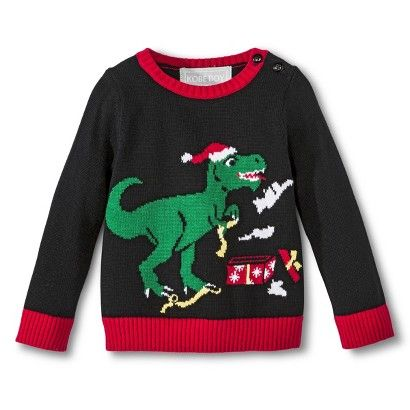 Infant Toddler Boys' T-Rex Ugly Christmas Sweater ---- Christmas ...