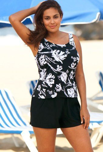 c564bc4e4f Beach Belle Splash Plus Size Shortini Plus Size Swimwear Beach Belle. $48.20
