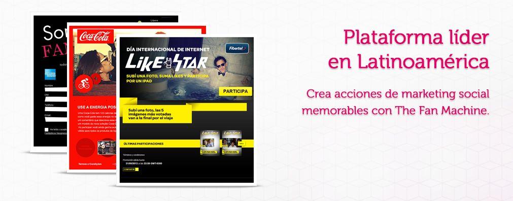 Plataforma de #Social #Marketing líder en Latinoamérica. Crea campañas memorables con #TheFanMachine.