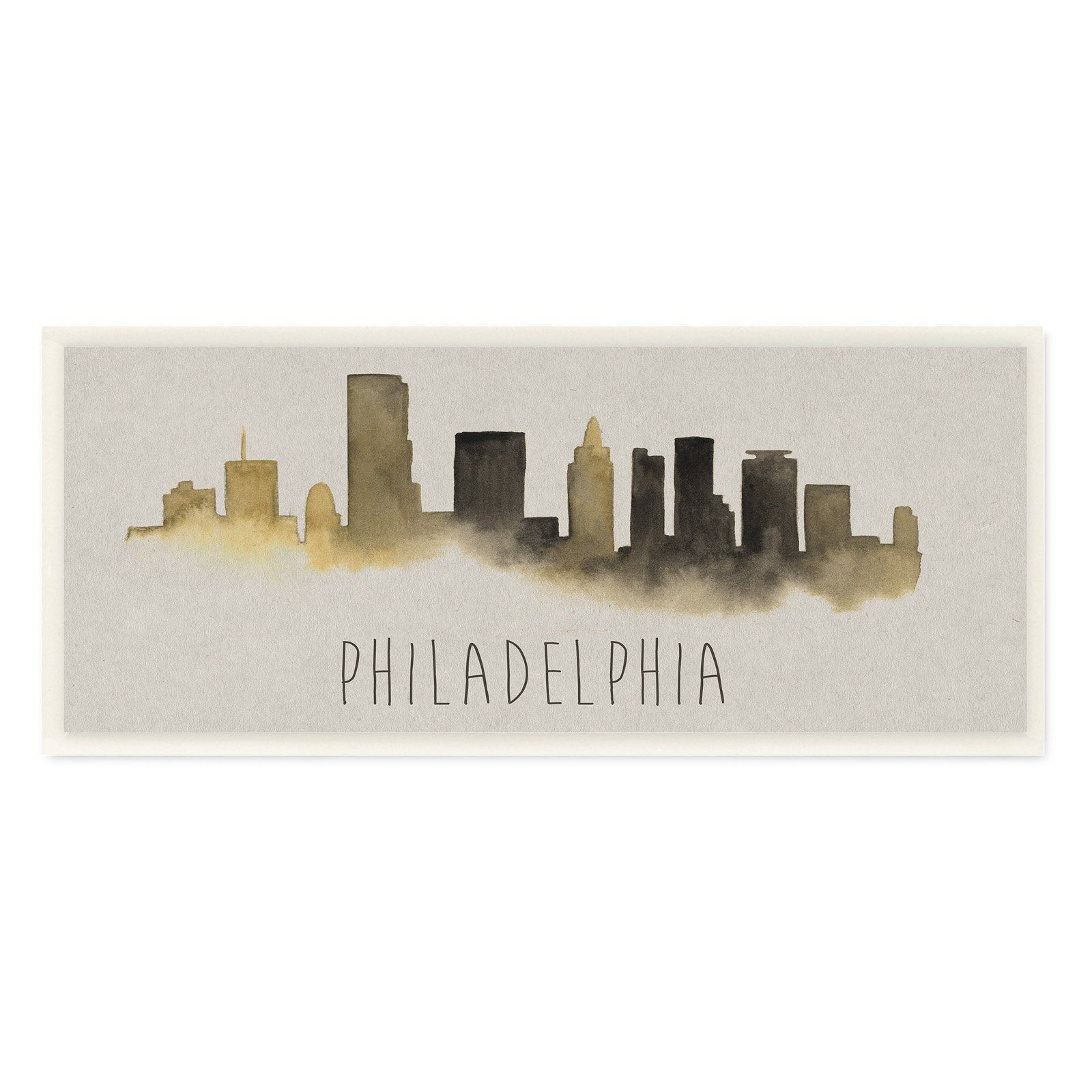 The Stupell Home Decor Collection Philadelphia Skyline Silhouette Wall Plaque Art Philadelphia Skyline Wall Art Plaques Skyline Silhouette
