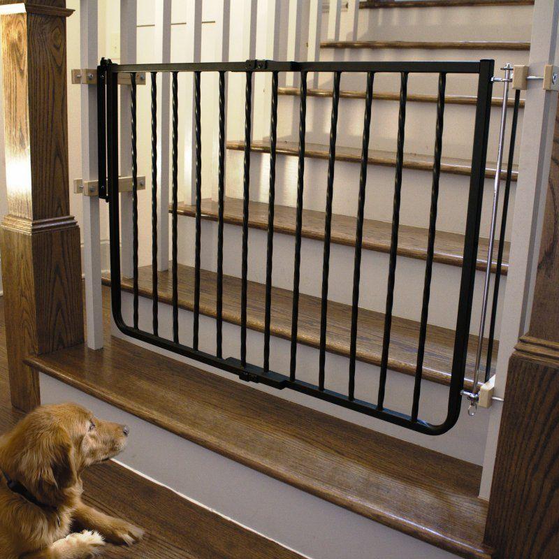 Cardinal Gates Wrought Iron Decor Pet Gate   WI30 BZ