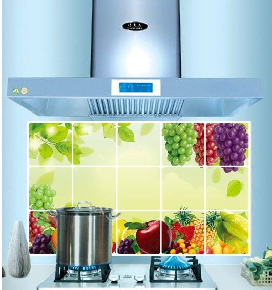 Eco Removable Fruit Lot Design Kitchen Waterproof and Oil Proof ...