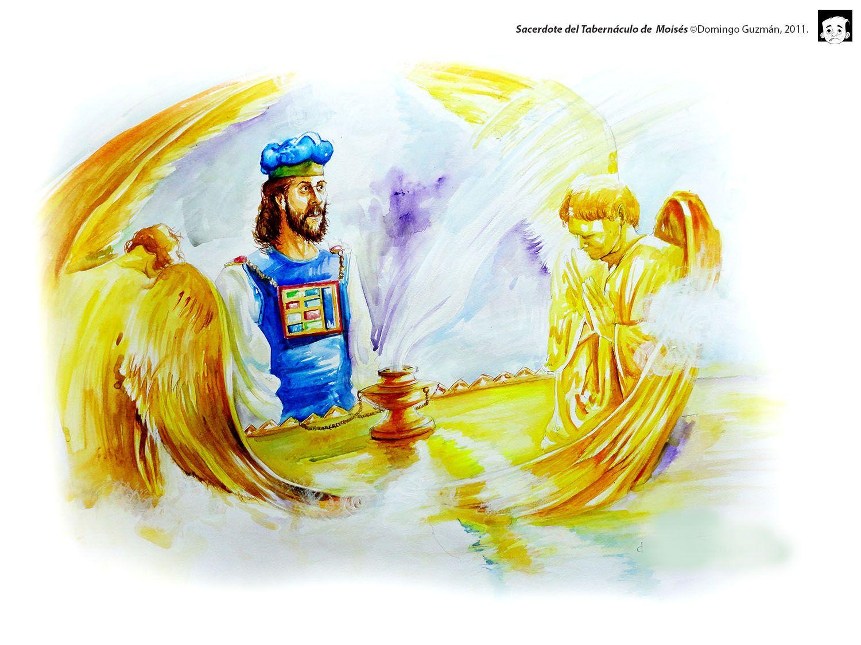 Sacerdote del Tabernáculo de  Moisés ©Domingo Guzmán, 2011. Ilustración para la Fundación Manantial de Vida.