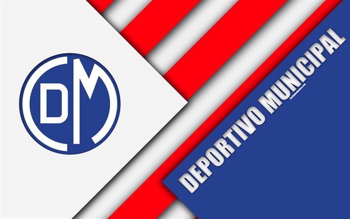 Download wallpapers Club Deportivo Municipal, 4k, logo