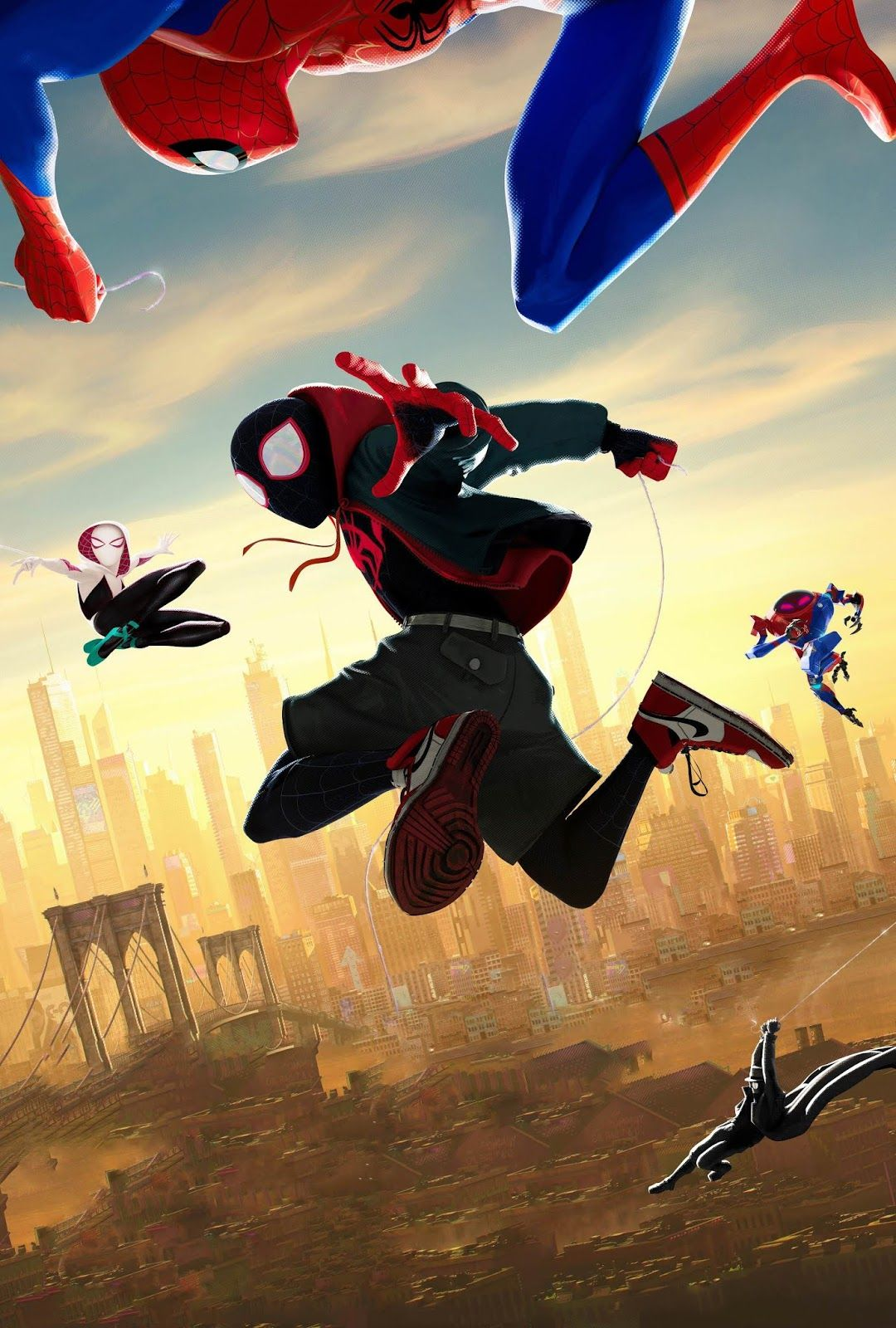 Spider Man Into The Spider Verse Textless Poster Beautiful