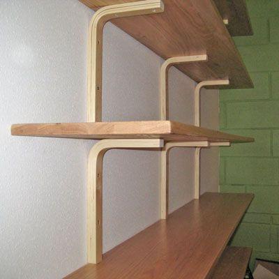 DIY Shelf Brackets Made From IKEA Stools Wall shelf