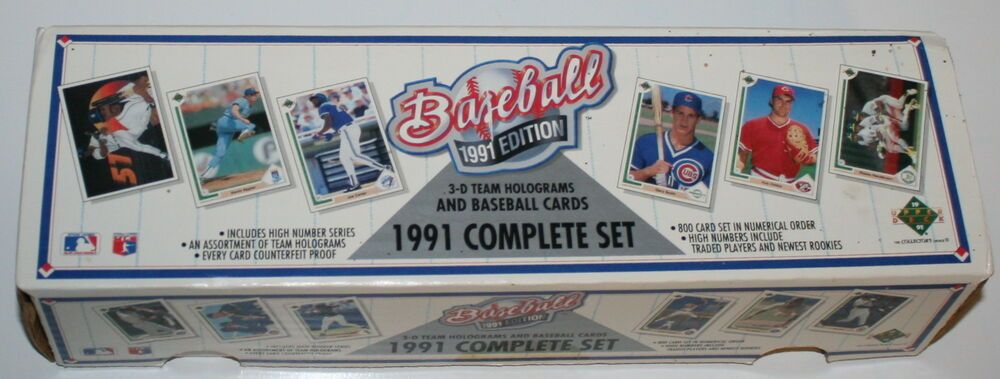 800 Baseball Cards In Numerical Order 1991 Upper Deck Complete Set