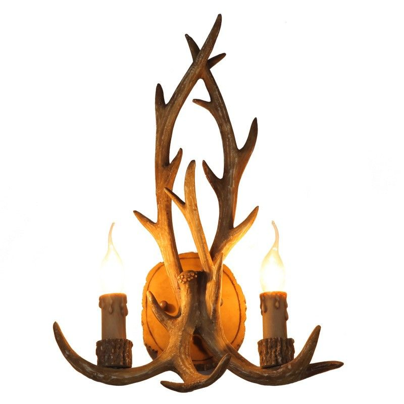 antler sconce sconces moose wall rustic