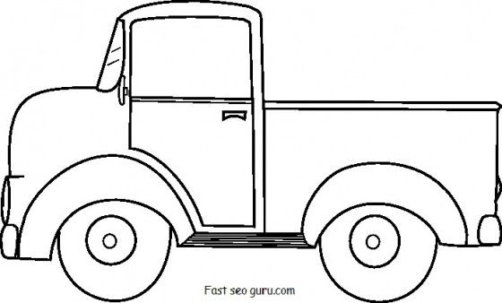 Printable Old Ford Pickup Coloring Pages Printable Coloring