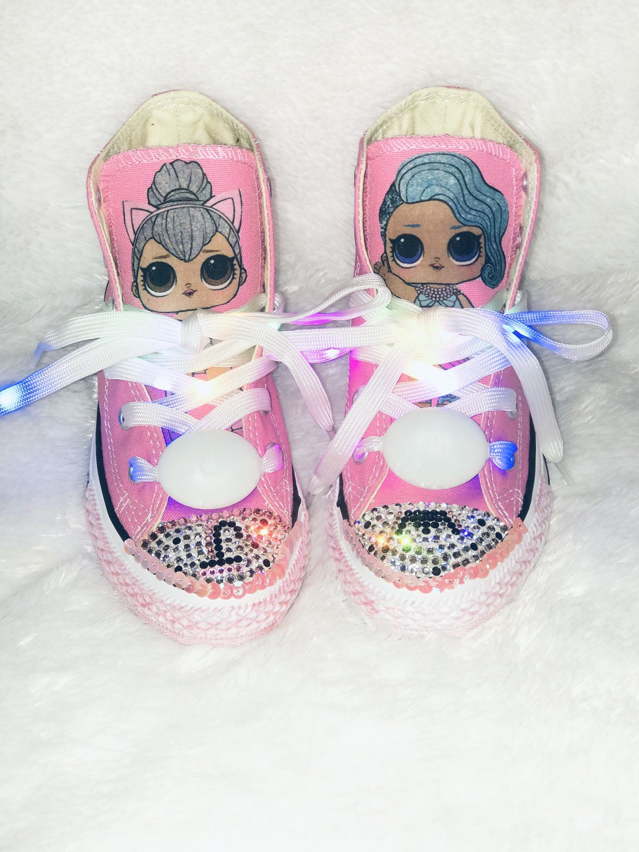 acc0573ec5ec TaylorsPenny Bling Converse  Bling Sneakers for toddlers Supergirl  Birthday  Sparkly Sneakers  Kids fashion  Bling Sneakers for toddlers  NYC  Designer  ...
