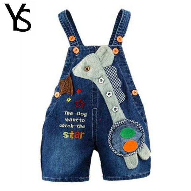 0c007c414 9M-2T Baby Boys Girls Jeans Overalls Shorts Toddler Kids Denim Rompers