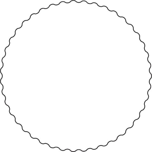 Squiggly circle ❤ liked on Polyvore featuring frames, circles ...