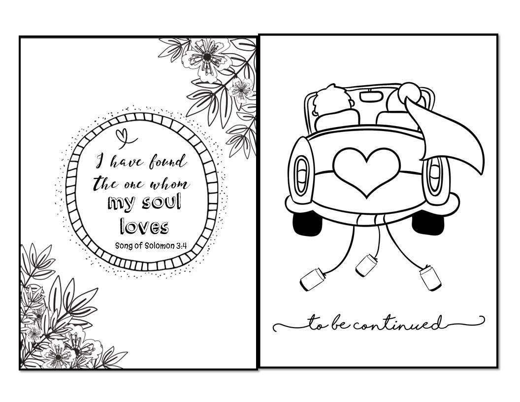 Customized Wedding Coloring Book Download NOW Or Create A NEW One From Scratch