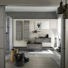 salle de bain gris anthracite, mur beige dans la salle de bain ikea ...