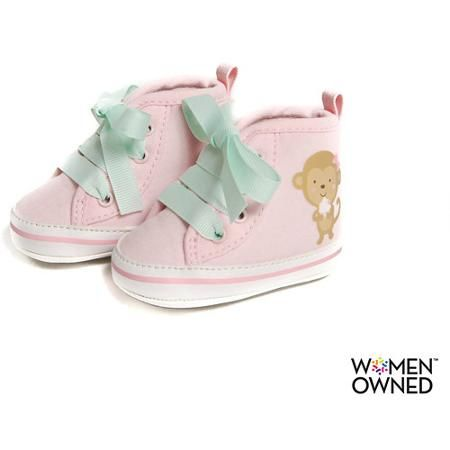 6f00277035cd7 Child of Mine by Carters Newborn Baby Girl Monkey High Top Sneakers -  Walmart.com