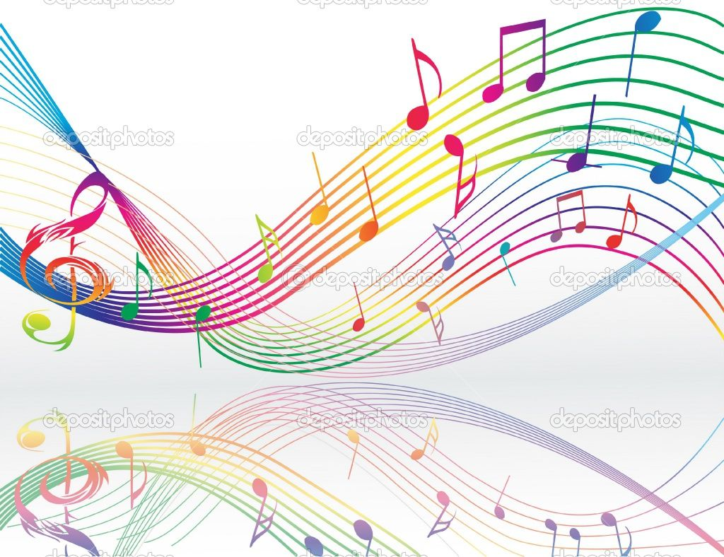 Reflection Of Music Notes Music Notes Music Notes Background Music Wallpaper