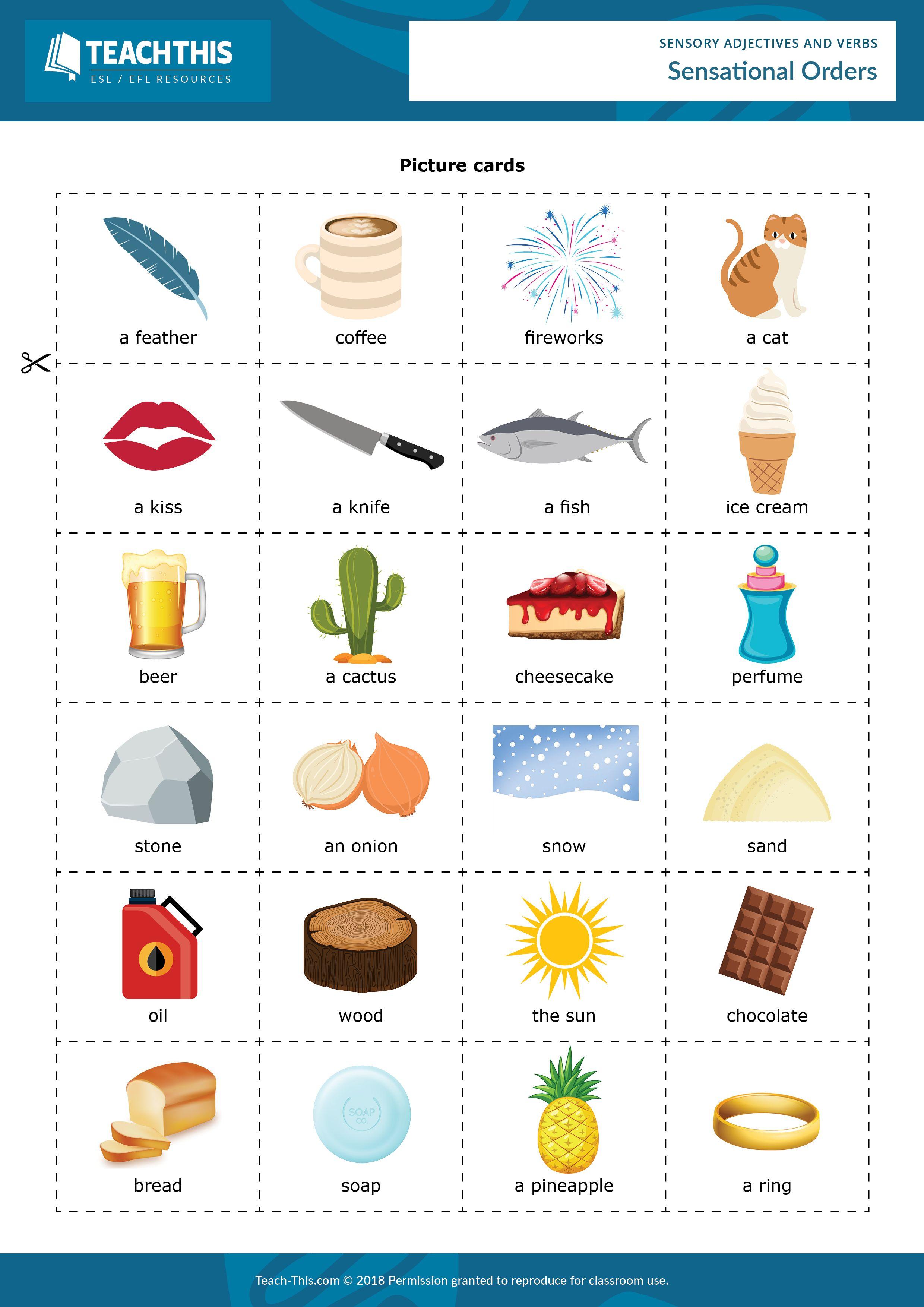 Sensory Adjectives And Verbs