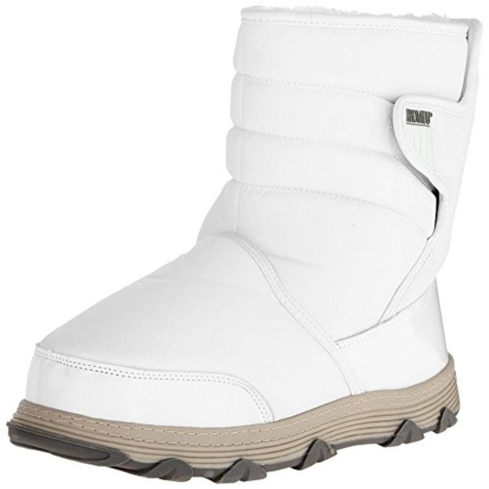 Khombu Womens Wanderer White Snow Boots Shoes 6 Medium (B,M) #Khombu