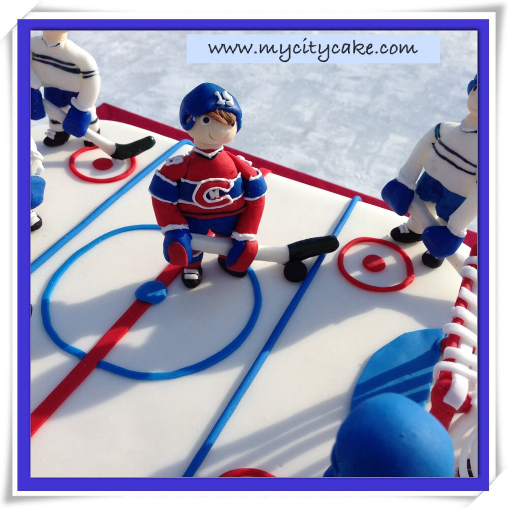 Montreal canadians rink cake with habs playing 3 on 3