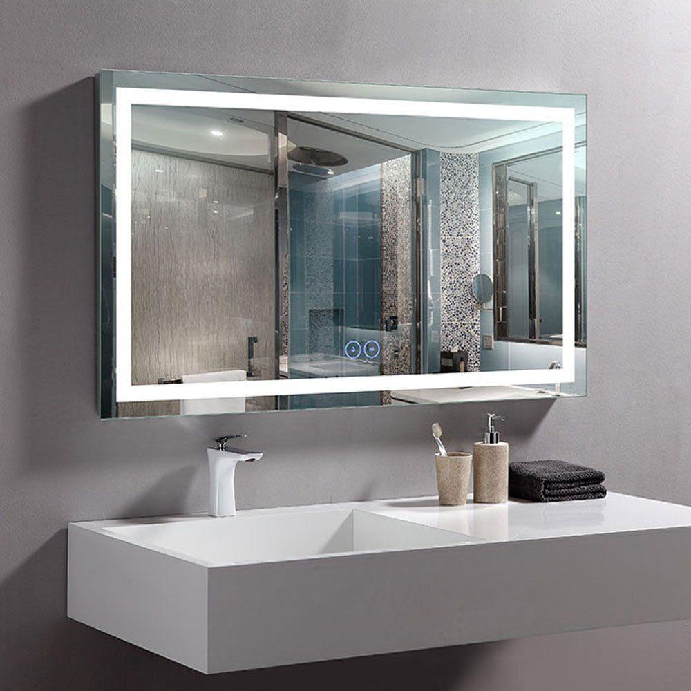 Decoraport 40 X 24 In Horizontal Led Bathroom Mirror With Antifog Function Dkack010w2 T Contemporary Bathroom Vanity Bathroom Vanity Mirror Bathroom Mirror